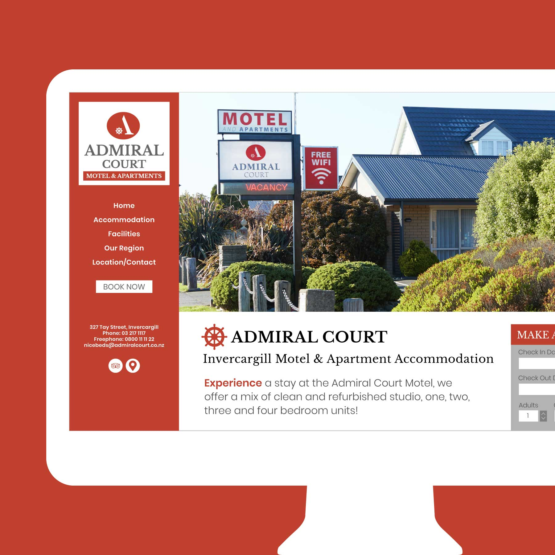 Admiral Court Wanaka Web Design