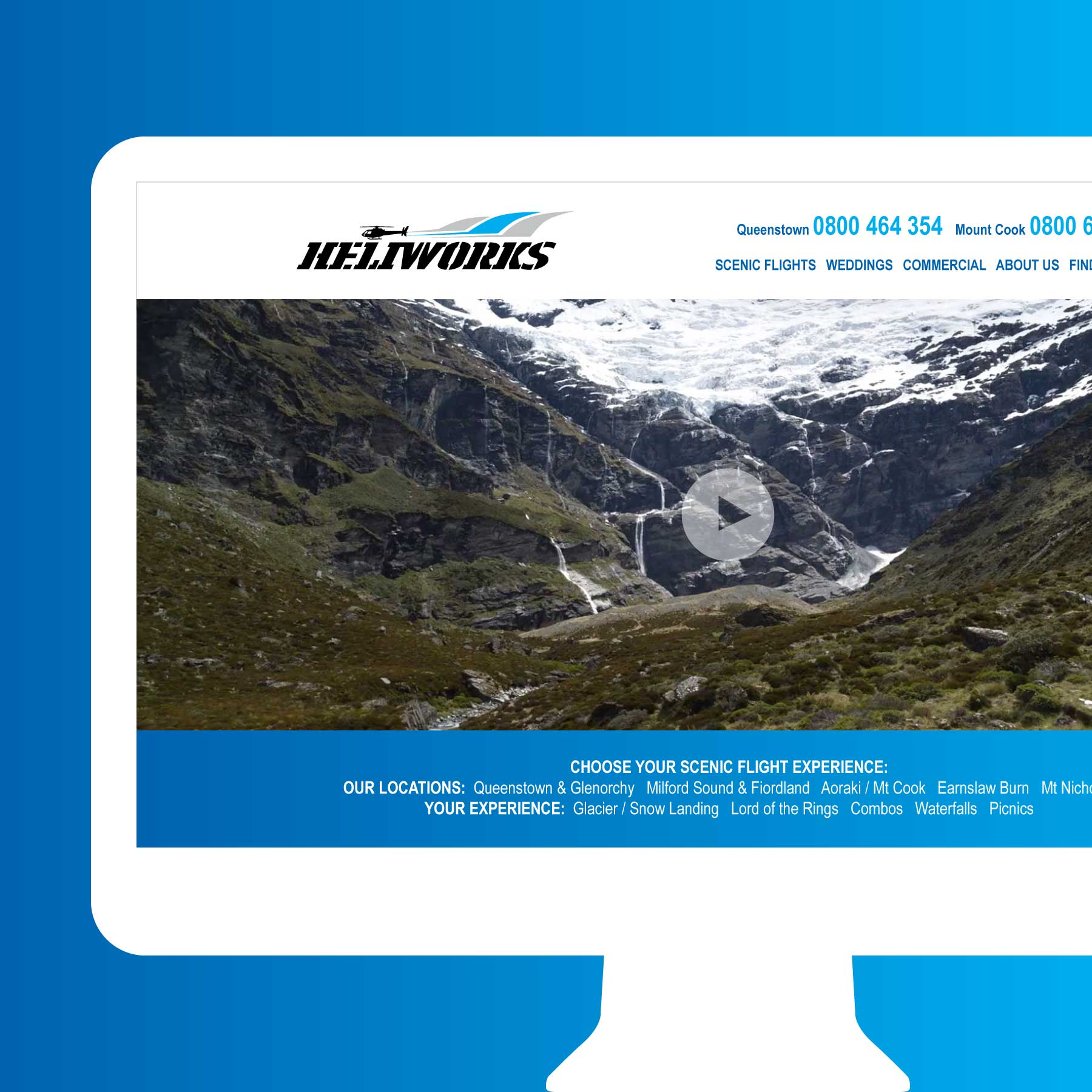 Heliworks Wanaka Web Design