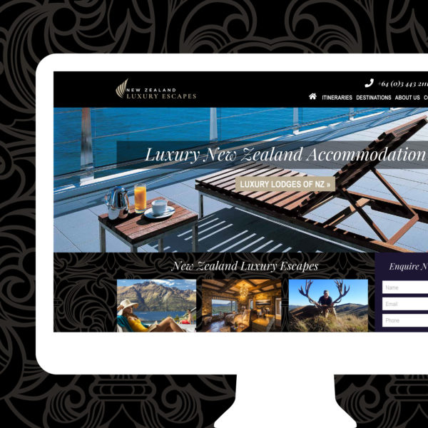 New Zealand Luxury Escapes Wanaka Web Design